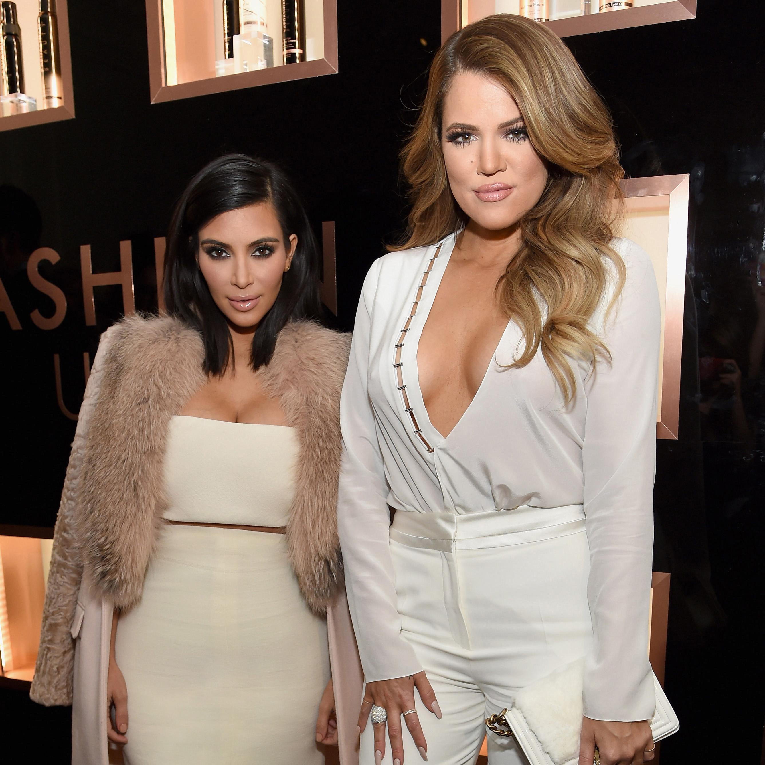 NEW YORK, NY - FEBRUARY 10:  Kim Kardashian West, Khloe Kardashian and Farouk Systems, Inc. Celebrate the Launch of Kardashian Beauty at Academy Mansion on February 10, 2015 in New York City.  (Photo by Jamie McCarthy/WireImage for Kardashian Beauty)