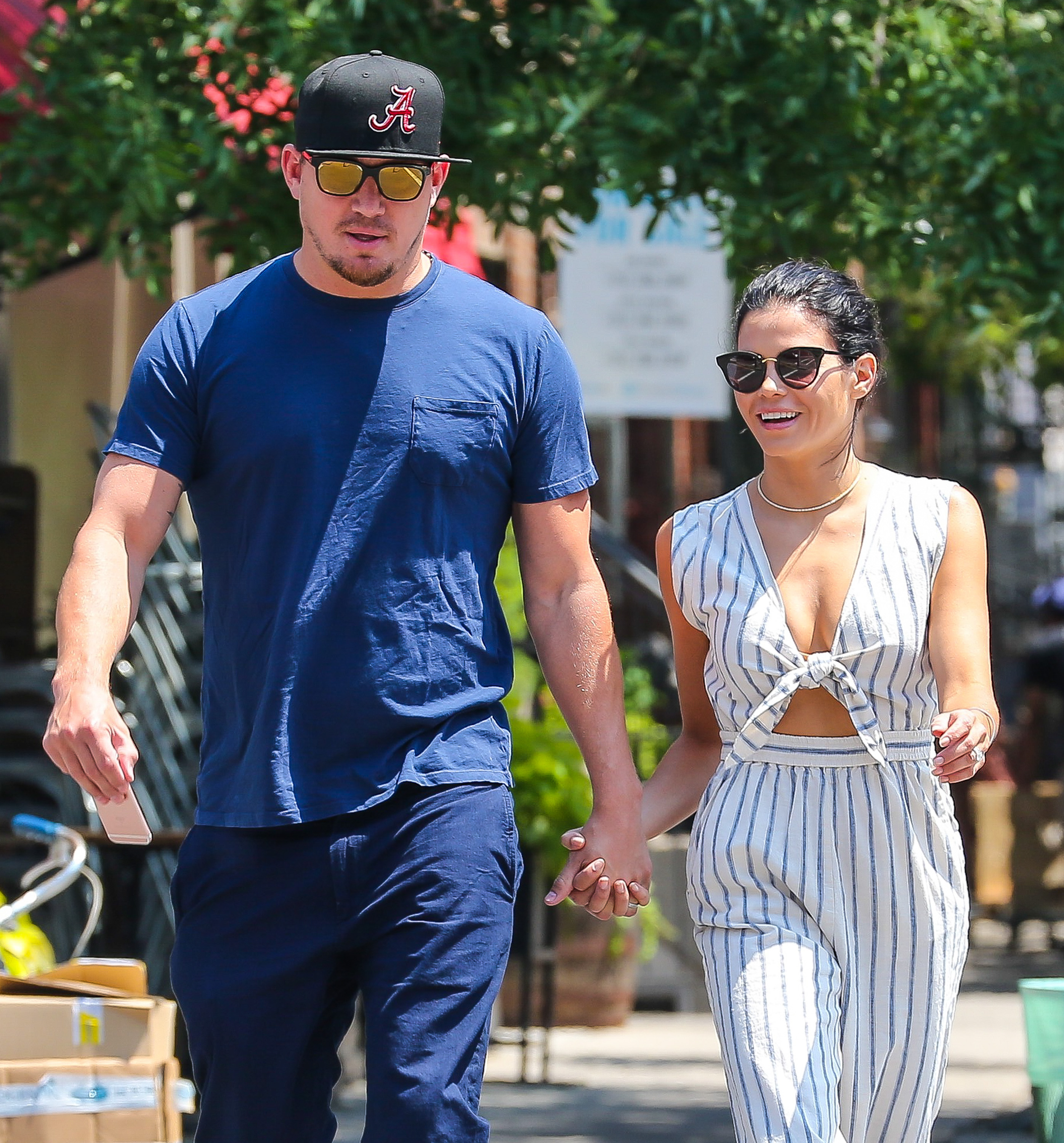 52129749 Actor Channing Tatum and Jenna Dewan were seen out and about in New York City, New York on July 21, 2016.  The two held hands while they were out exploring. FameFlynet, Inc - Beverly Hills, CA, USA - +1 (310) 505-9876